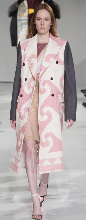 Комбинированное пальто от Calvin Klein Collection
