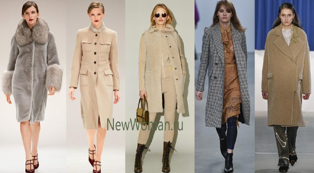 Модное женское пальто сезона осень-зима 2017-2018 прямого силуэта