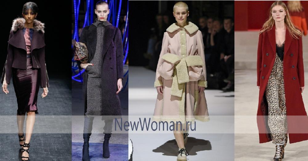 Какого цвета модное осеннее пальто 2017 - оттенки фиолетового, розового и красного