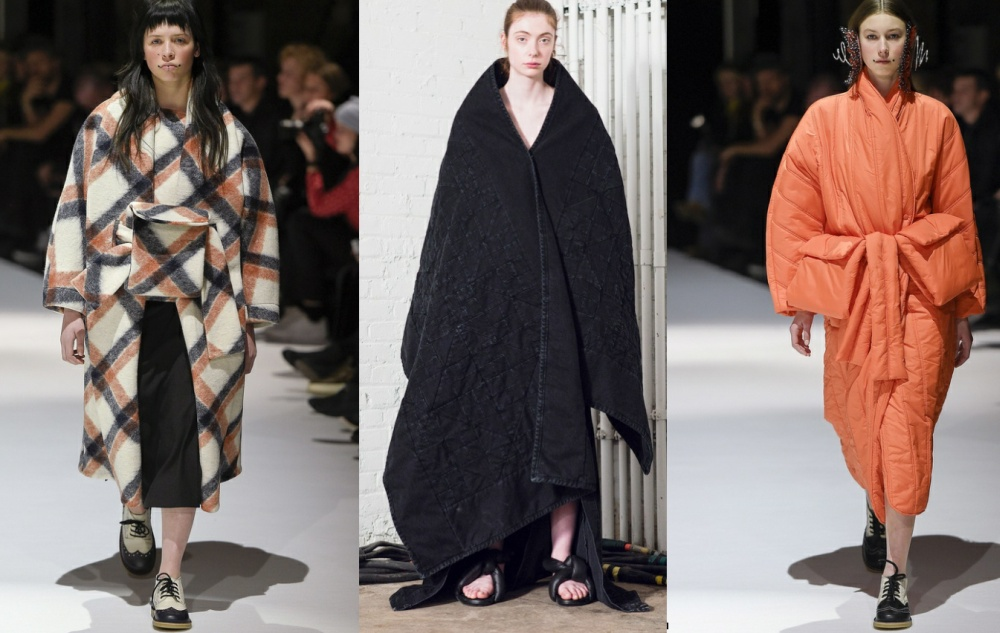 Модная тенденция осени 2017 - пальто-одеяло