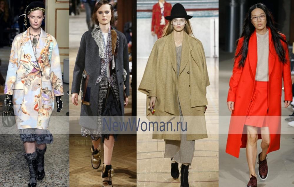 Осенью 2017 в женскую моду придут пальто с воротником-шалькой