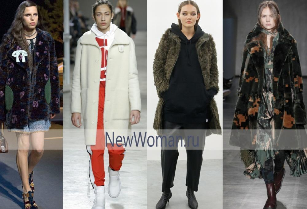 Модное меховое пальто на осень 2017