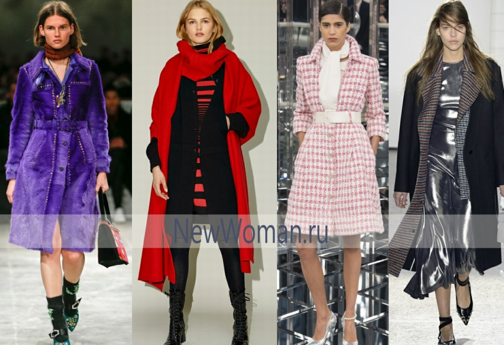 Мода осени 2017 года и зимы 2017-2018 пальто миди