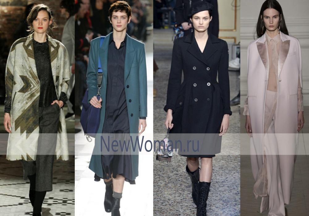 Стильные женские пальто 2017 с воротником пиджачного типа
