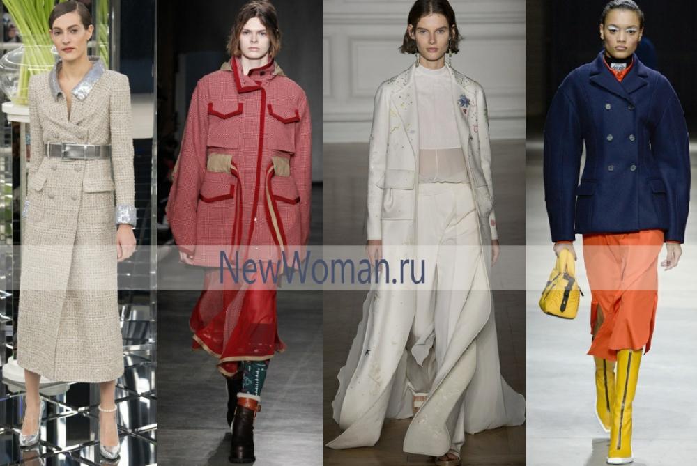 тенденции осенних пальто 2017 - большие накладные карманы