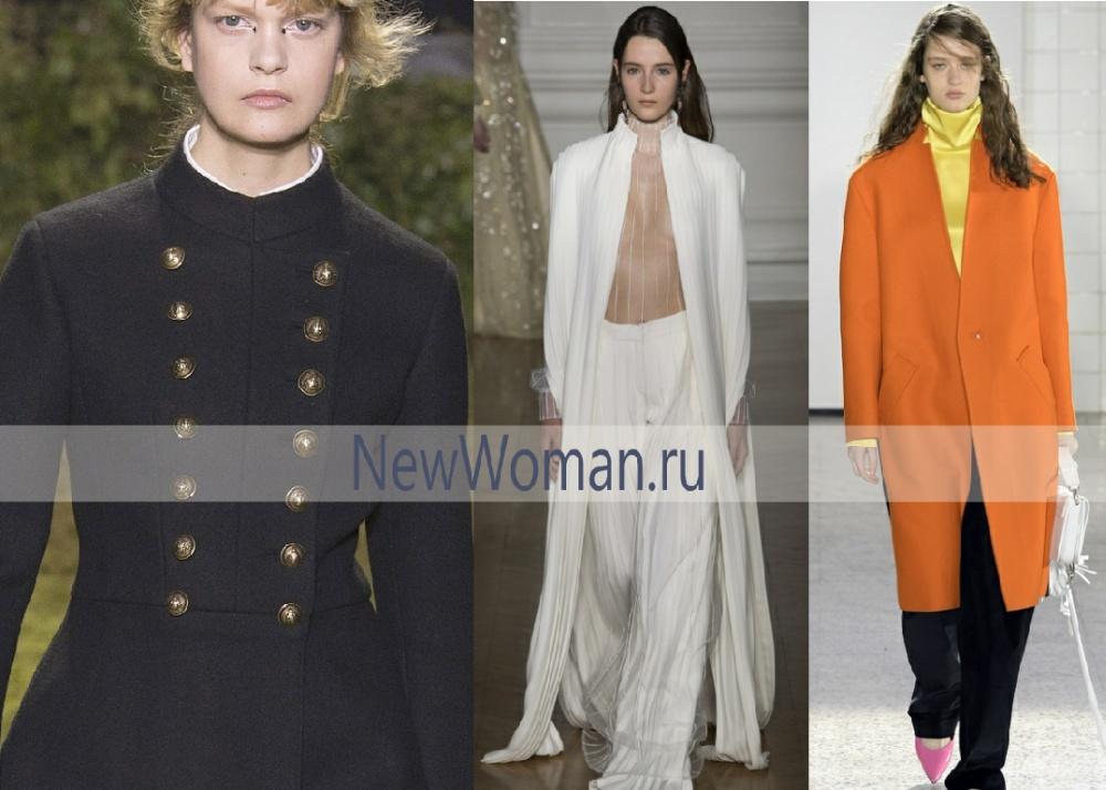 Модный воротник-стойка на женских пальто 2017