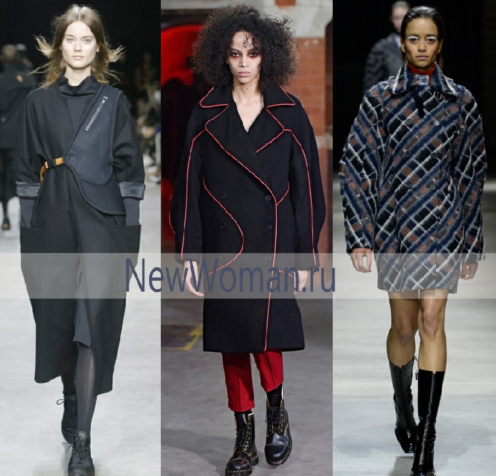 Женское пальто из драпа