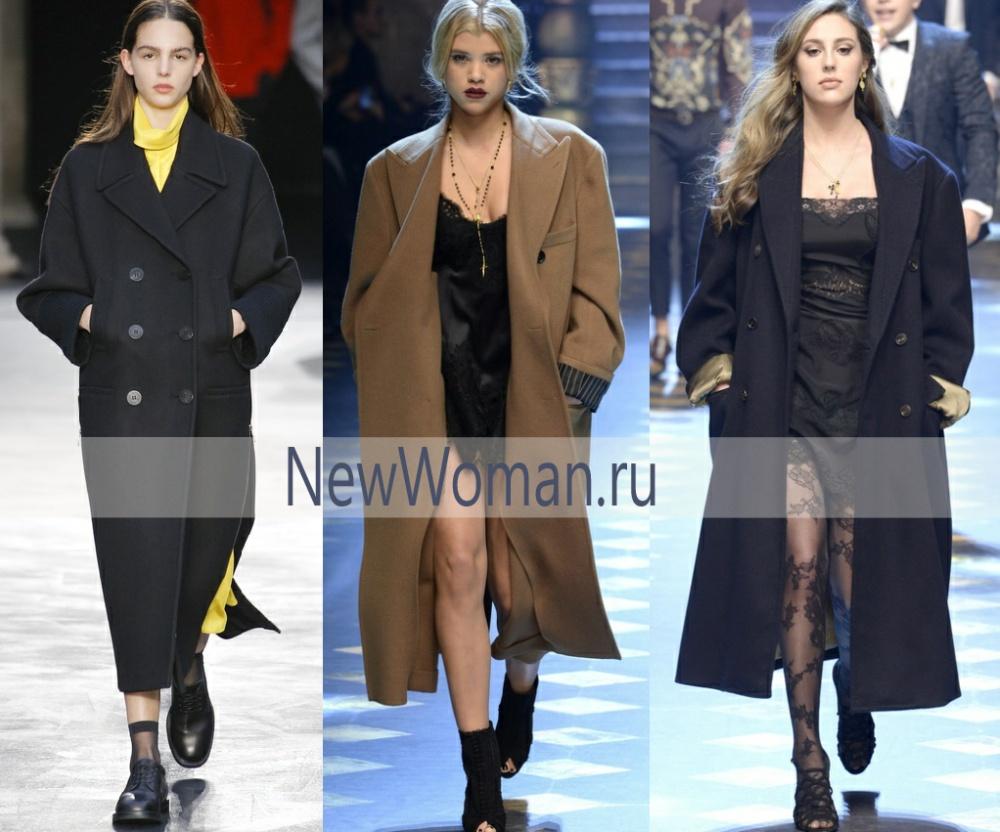 Пальто в мужском стиле - пальто-шинель - модный тренд осени 2017