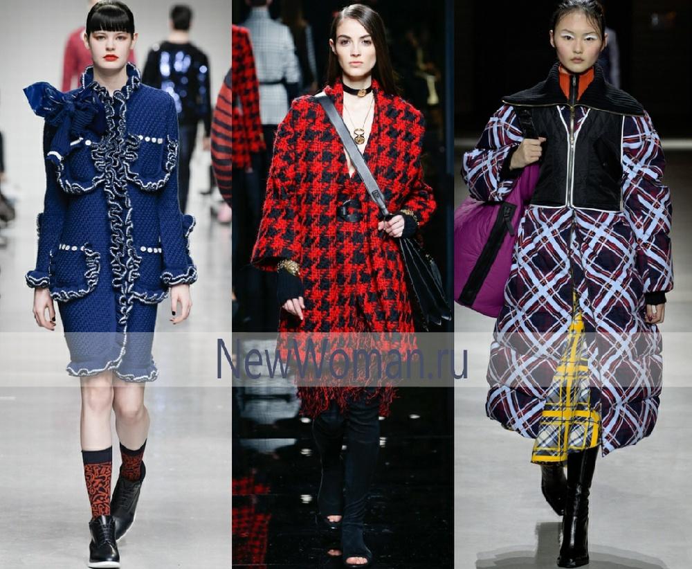 Вязаные и стеганные пальто - осенняя и зимняя мода 2017-2018
