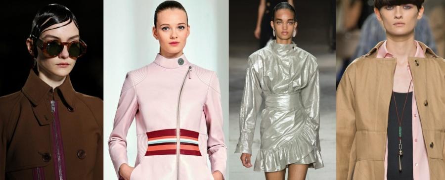 Модный тренд для плащей 2017 года - воротник-стойка