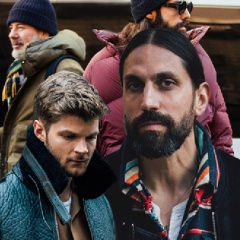 Мужские прически с бородкой 2017
