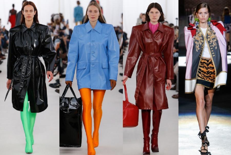 модная тенденция женских плащей мужские широкие плечи