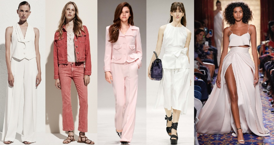 белый костюм брюки жилетка, джинсовый летний костюм, розовый брючный, белый с поясом-бантом, нарядный юбка с разрезом и топ