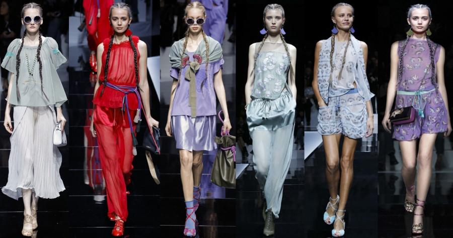 летние костюмы от бренда Emporio Armani