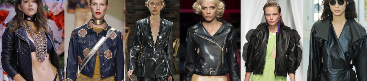 Кожаные куртки на весну - стеганые, блестящие, спенсер, косуха, с воланами, двубортная, с большим воротником