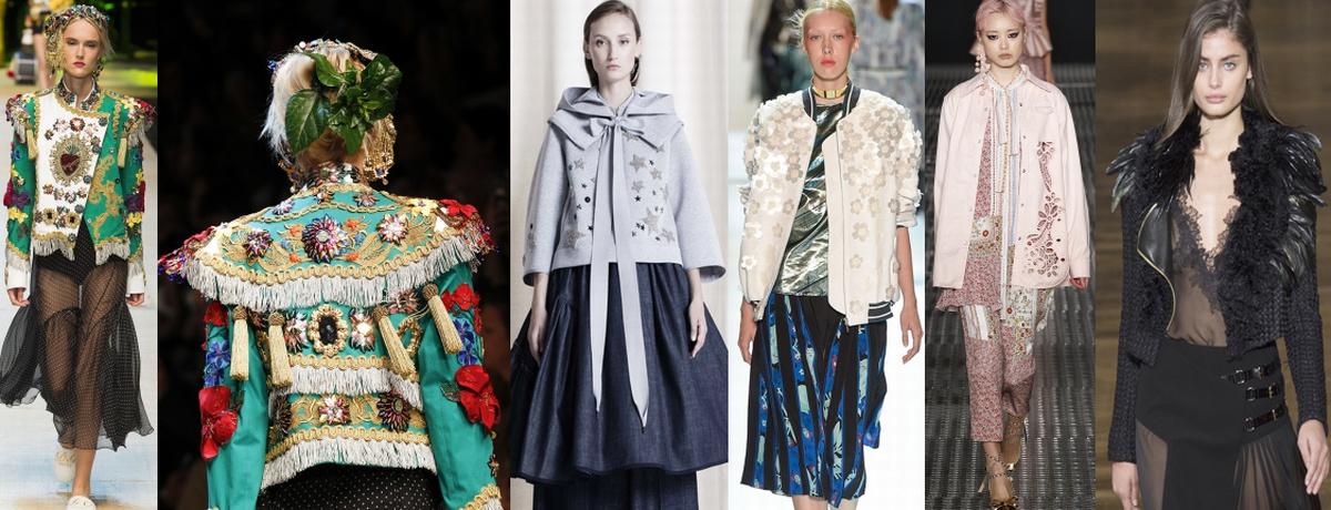 Модные весенние женские куртки 2017 с богатым декором фото