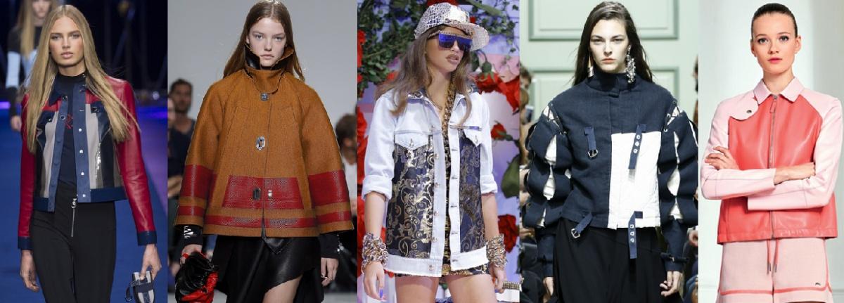 Модные женские куртки весна 2017 - комбинированные модели