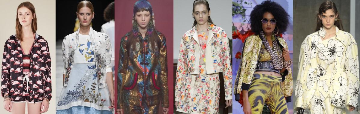 Модные куртки с принтами и рисунком