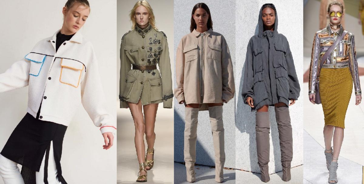 Модная тенденция весна-лето 2017 - куртки с большими накладными карманами