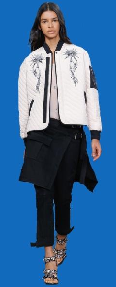 Модные женские куртки Весна-Лето 2017 - стеганые, без воротника в стильной черно-белой гамме от Carven