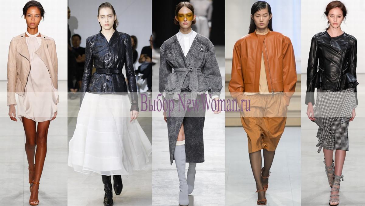 Модный тренд весна-лето 2017 - куртка-косуха без воротника
