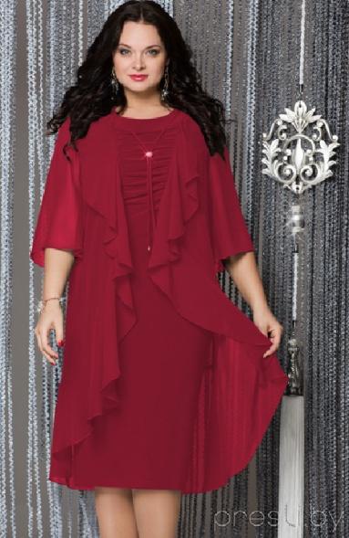 Вечерние платья для полных девушек и женщин для встречи года Красного Петуха 2017 от presli.by