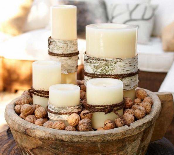 новогодний декор с грецкими орехами