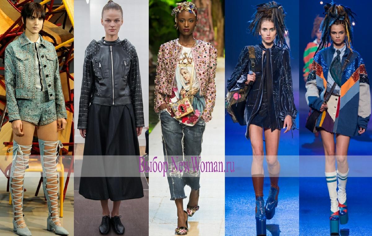 Модные женские куртки весны 2017 с клепками, блестками и пайетками