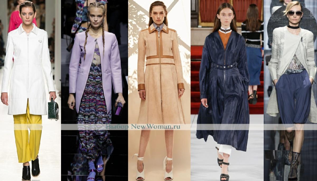 Пальто на молнии - модная тенденция весны 2017