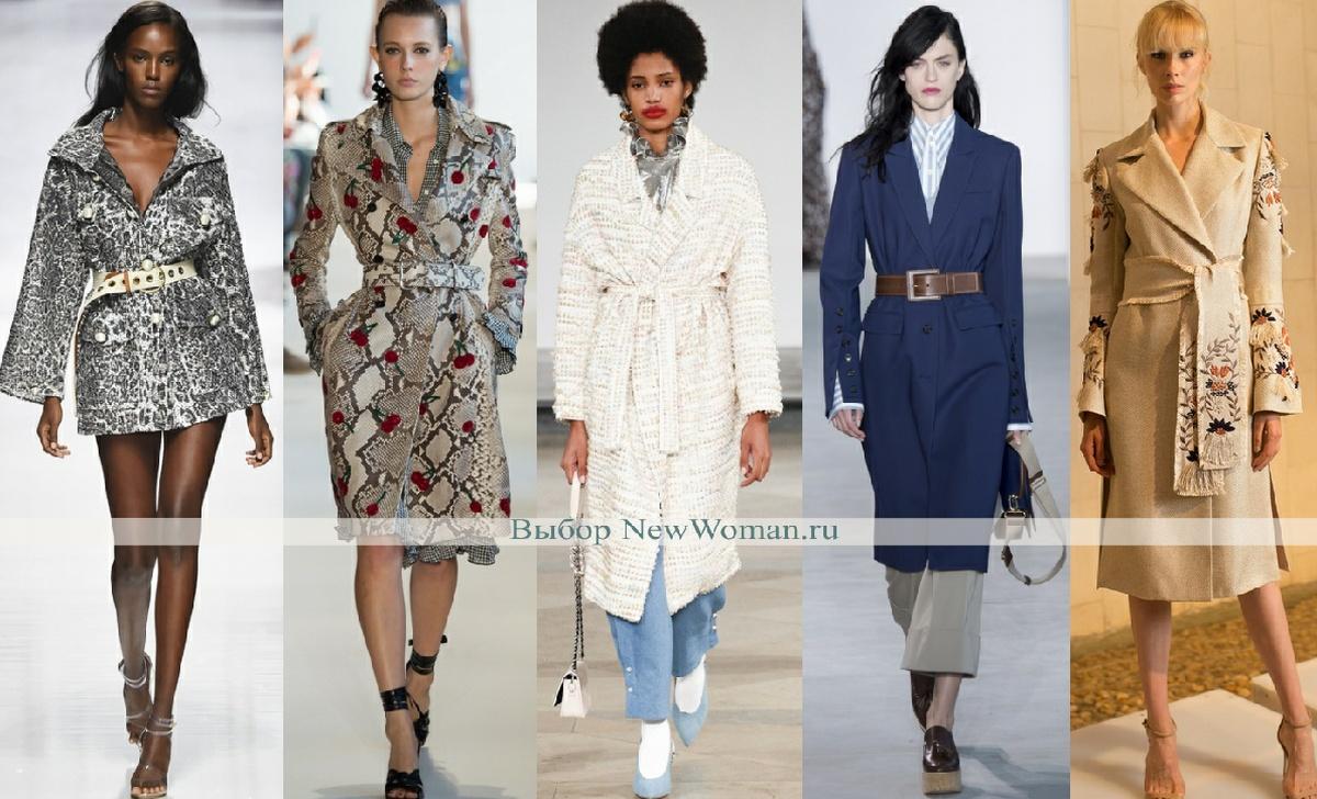 как выглядит модное демисезонное пальто 2017 с поясом