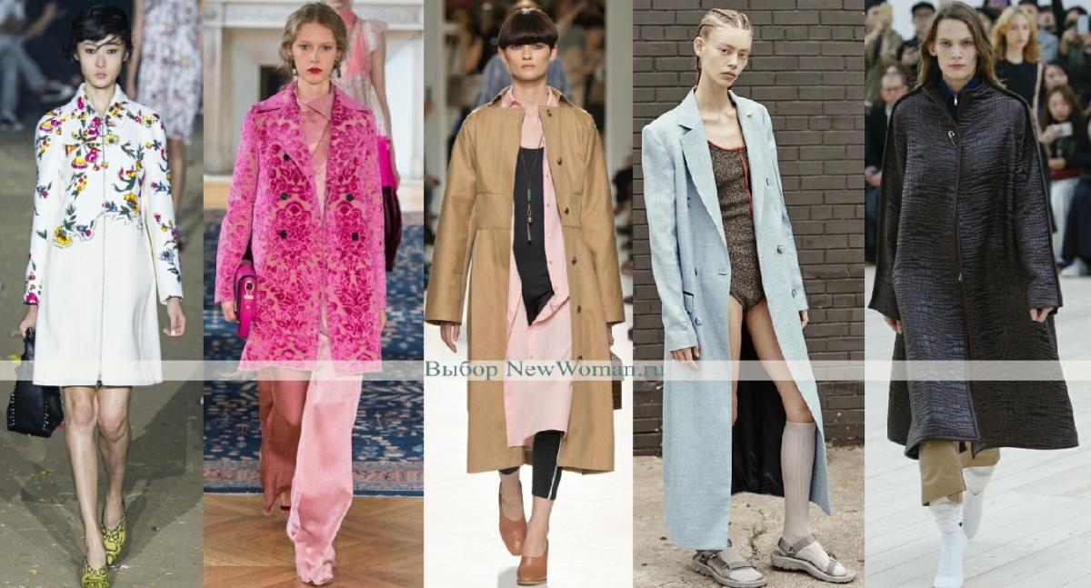 фото модных пальто с показов в милане, лондоне, нью-йорке, париже - весна 2017