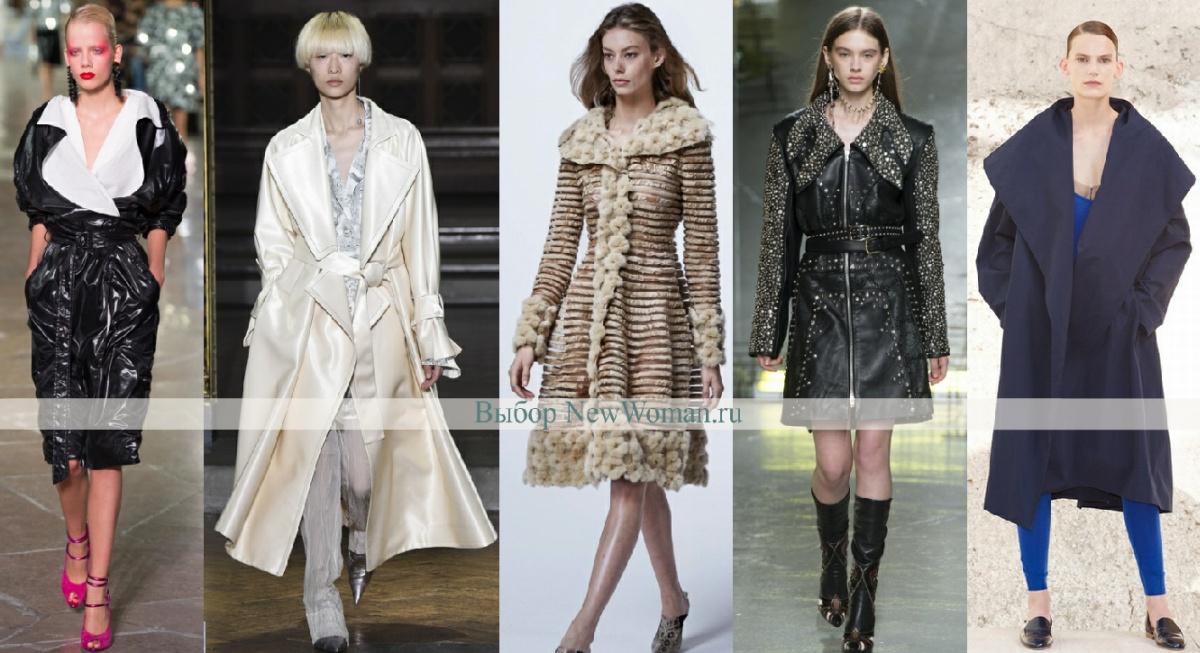 что модно весной 2017 года - пальто с большим воротником