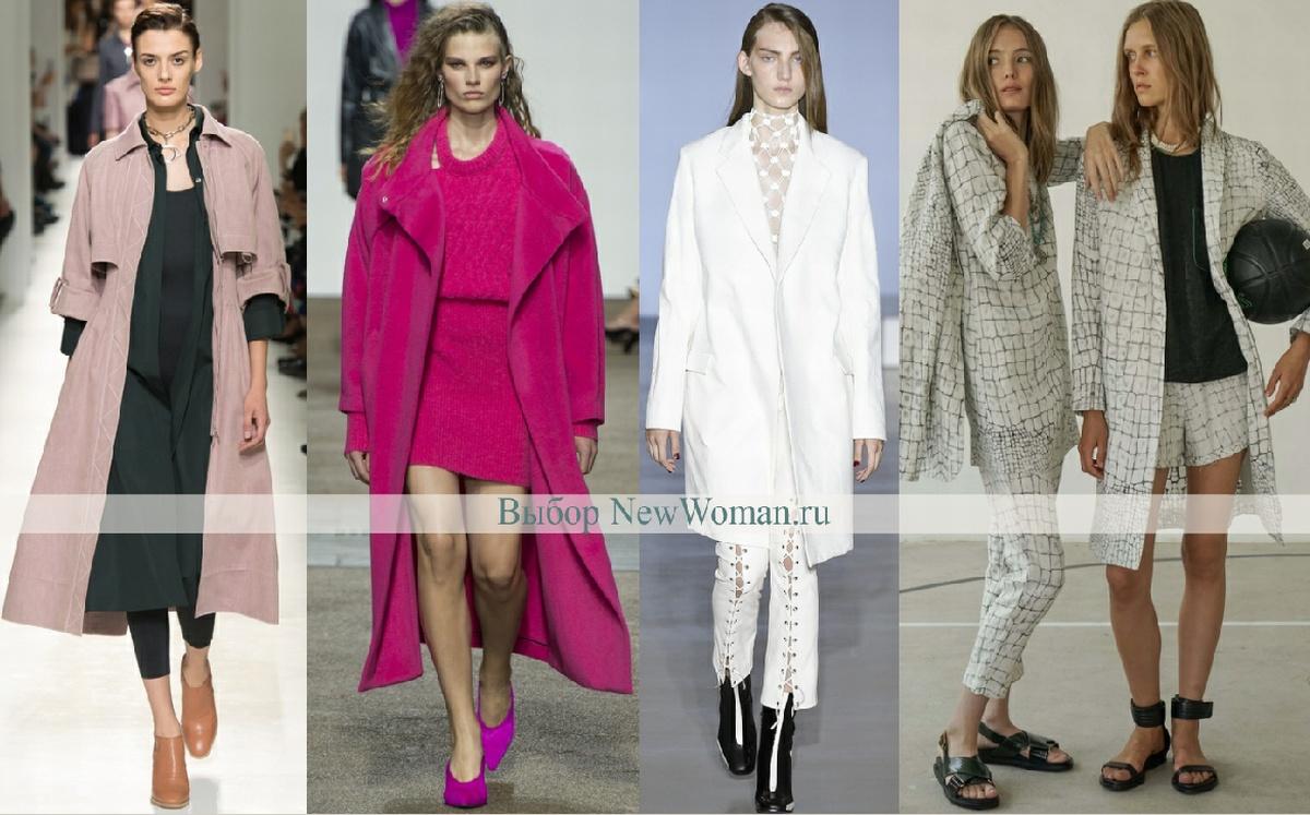 Модное весеннее пальто 2017 без застежки - фото