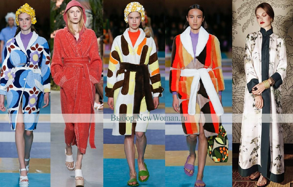 Пальто-халат - модный тренд весенней женской одежды 2017