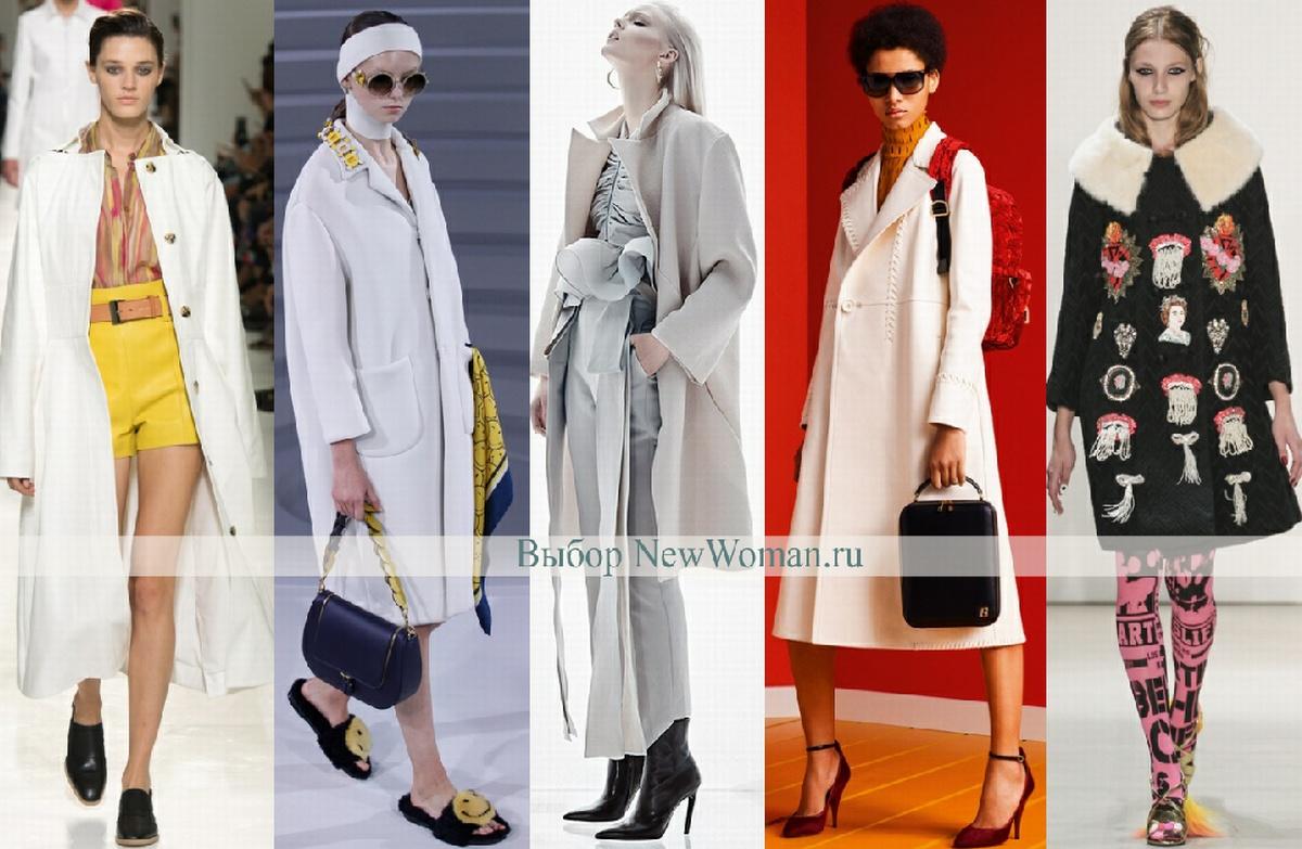 Мода весны 2017 - дизайнерские пальто миди
