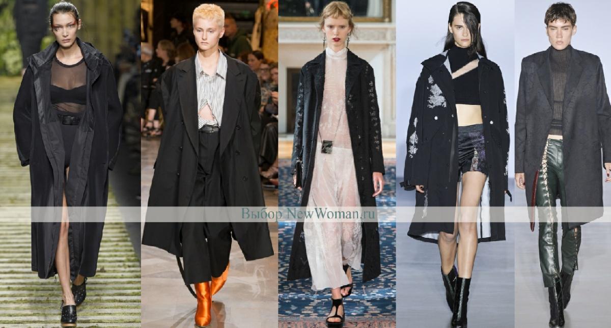 Весеннее пальто 2017 черного цвета