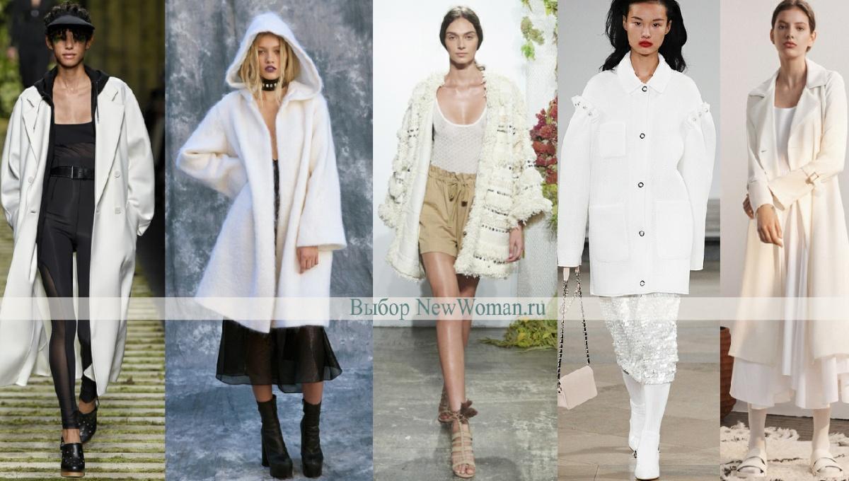 Весеннее пальто 2017 белого цвета