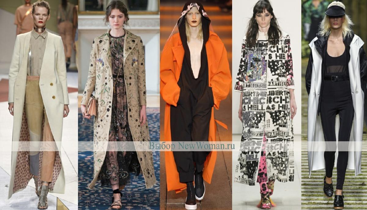 длинные пальто - мода весны 2017