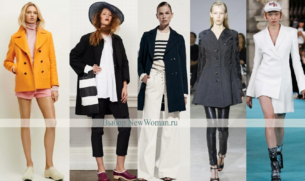 Модные короткие женские пальто - фото полупальто Весна 2017