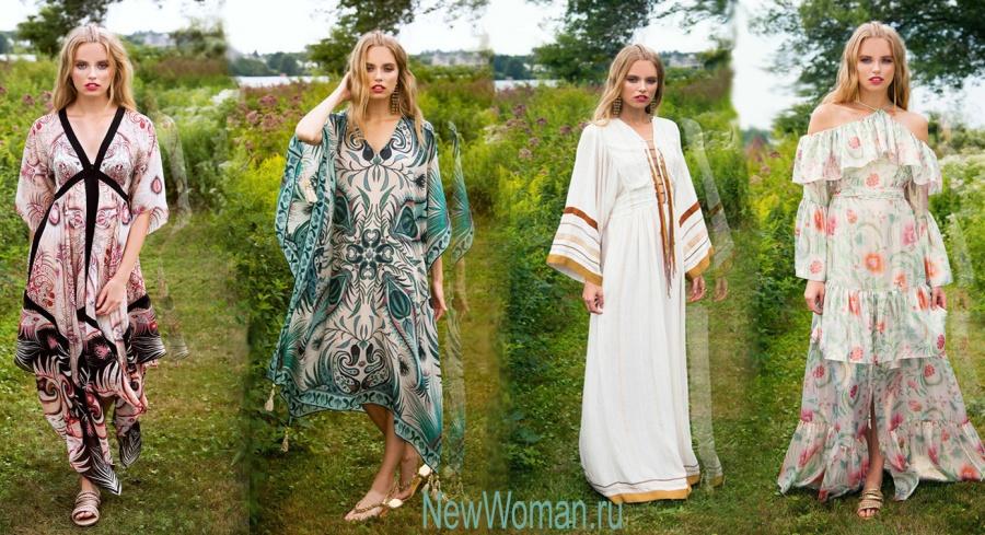 Модные платья и сарафаны для полных девушек - лето 2017, фото