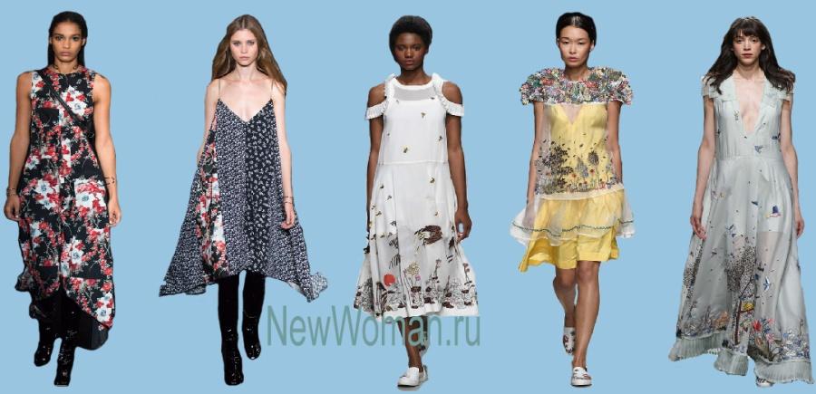Летние модные тренды платьев 2017 года для полных девушек и женщин