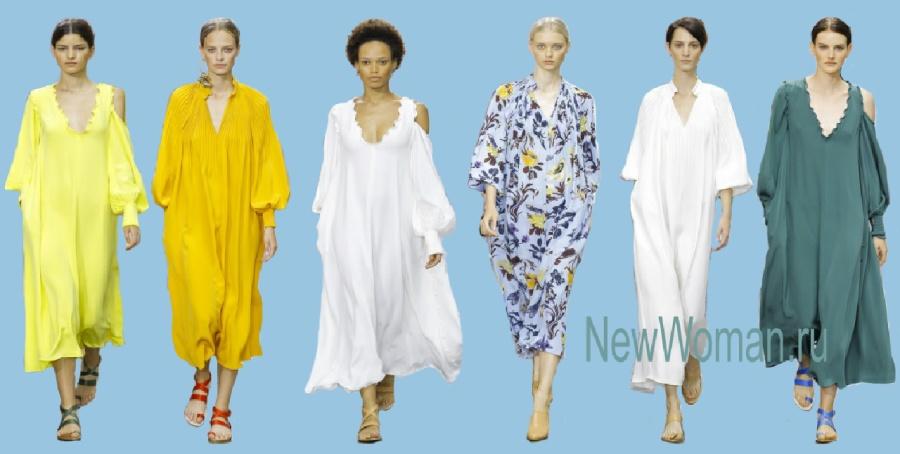 Модные летние платья и сарафаны 2017 для полных [фото]