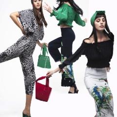 Модный летний гардероб 2017 для брюнеток от американского дизайнера Norma Kamali: леопардовый принт, зеленая гамма, яркие аппликации