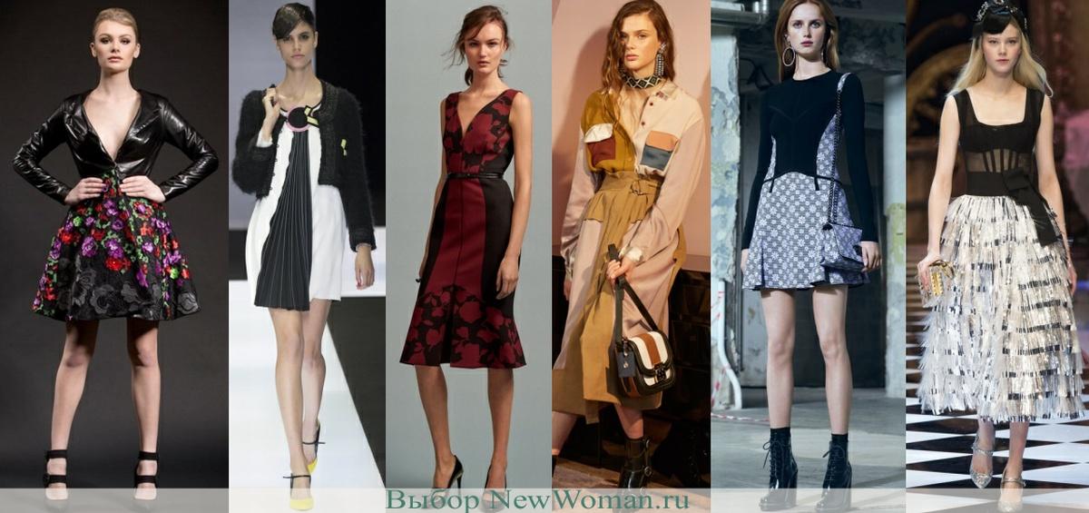 Комбинированные модели модных платьев