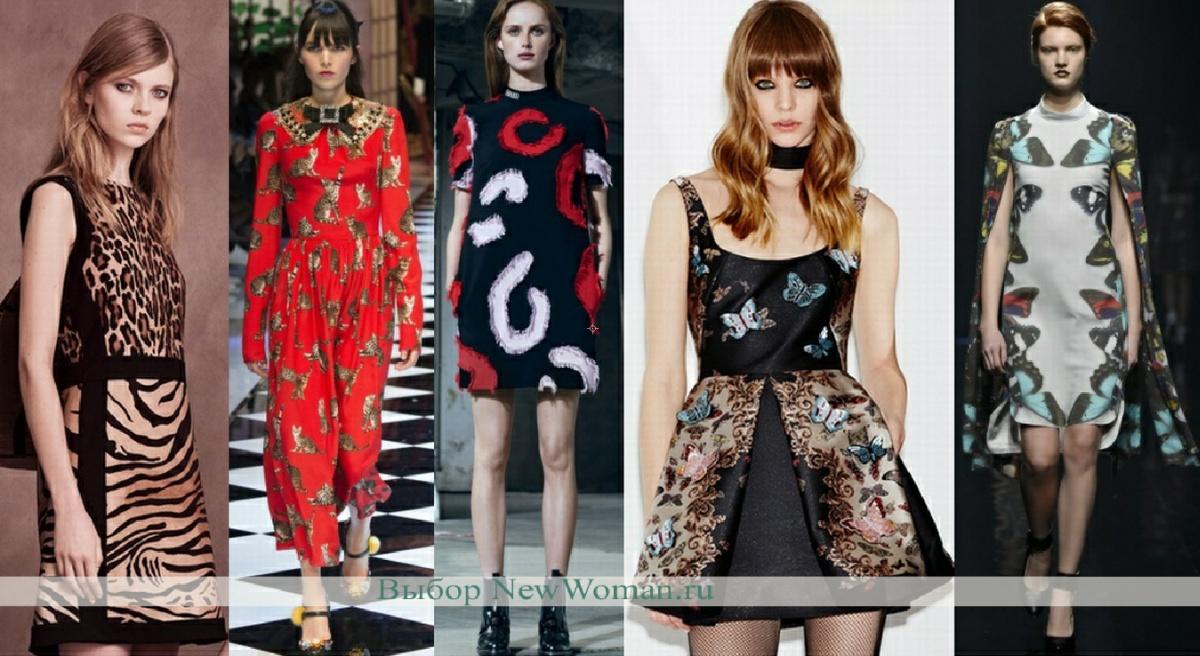 осенняя мода платья