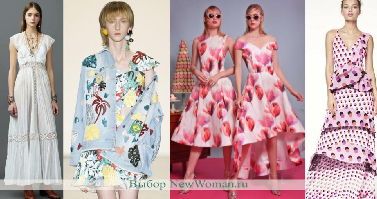 Модные платья на лето - фото