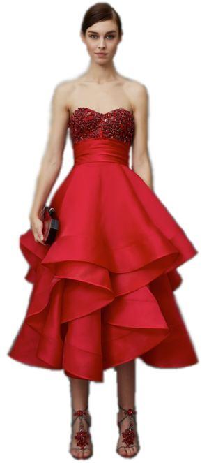 корсетное красное платье