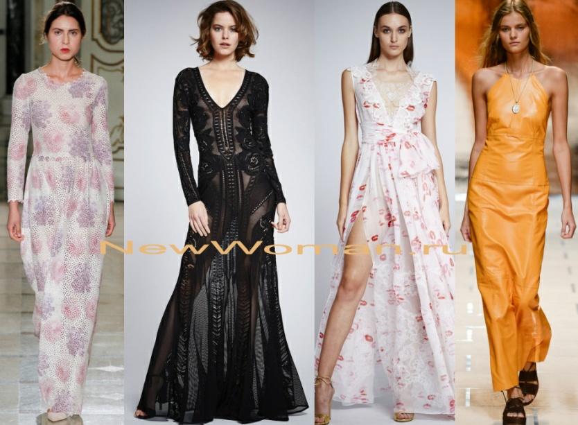 летнее нарядное длинное платье