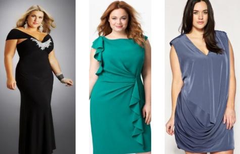 Блестящие платья для полных