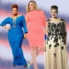 Нарядные платья для полных девушек и женщин, фото